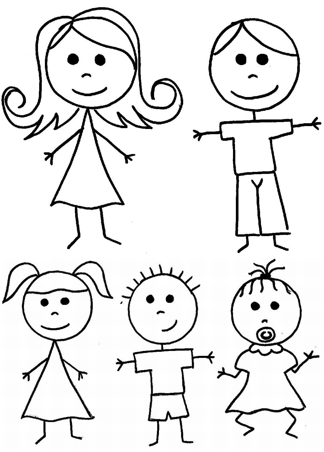 Stick People Coloring Pages At Getcolorings