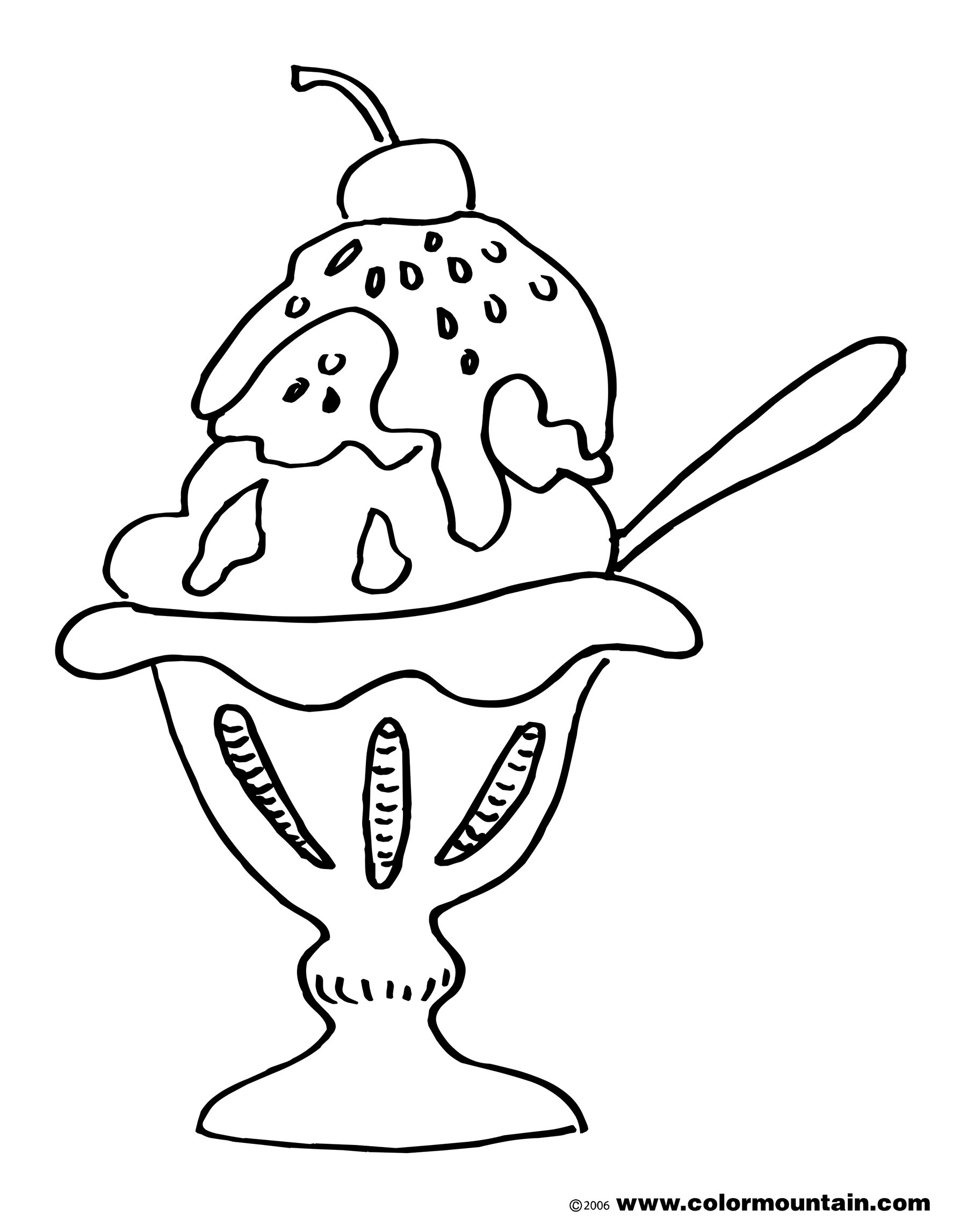 Sundae Coloring Page At Getcolorings