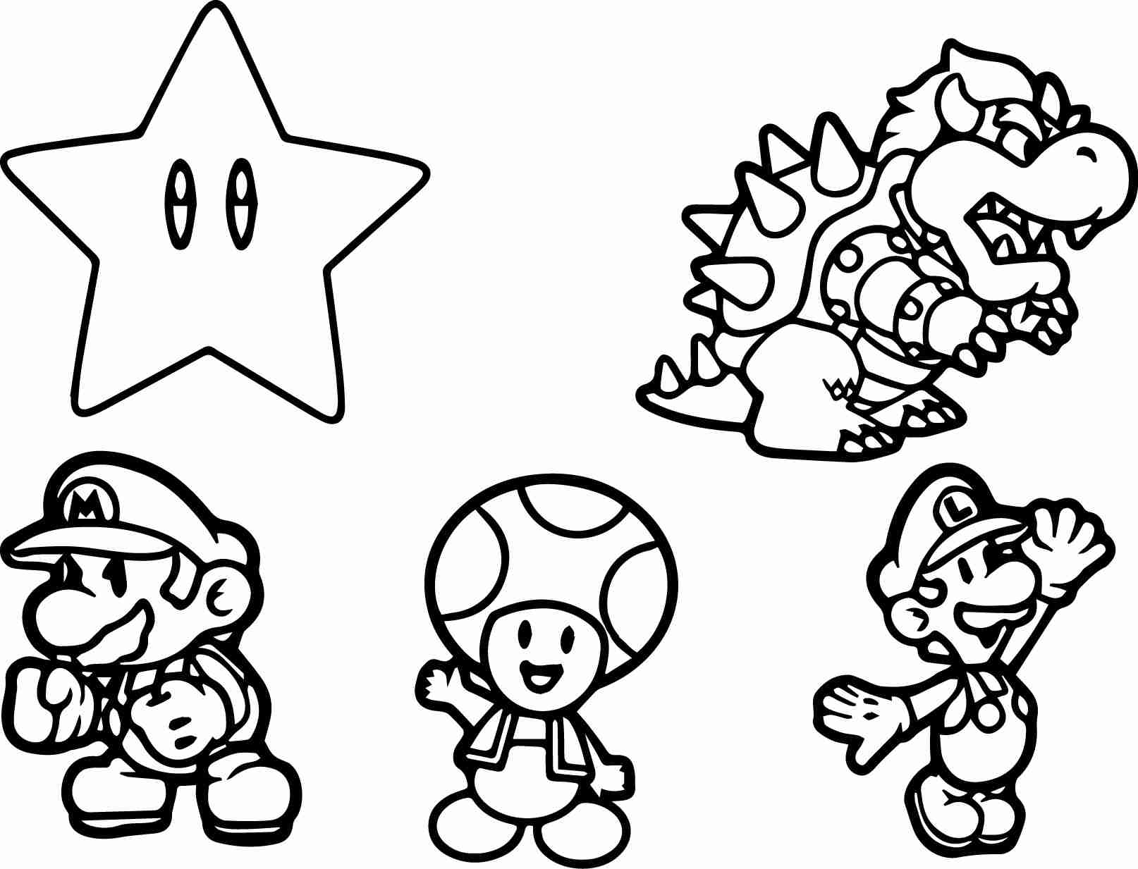 Super Mario Characters Coloring Pages At Getcolorings