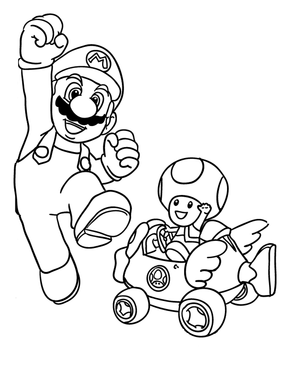 Super Mario Toad Coloring Pages At Getcolorings