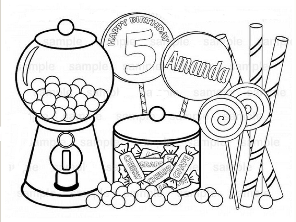 Sweets Coloring Pages At Getcolorings