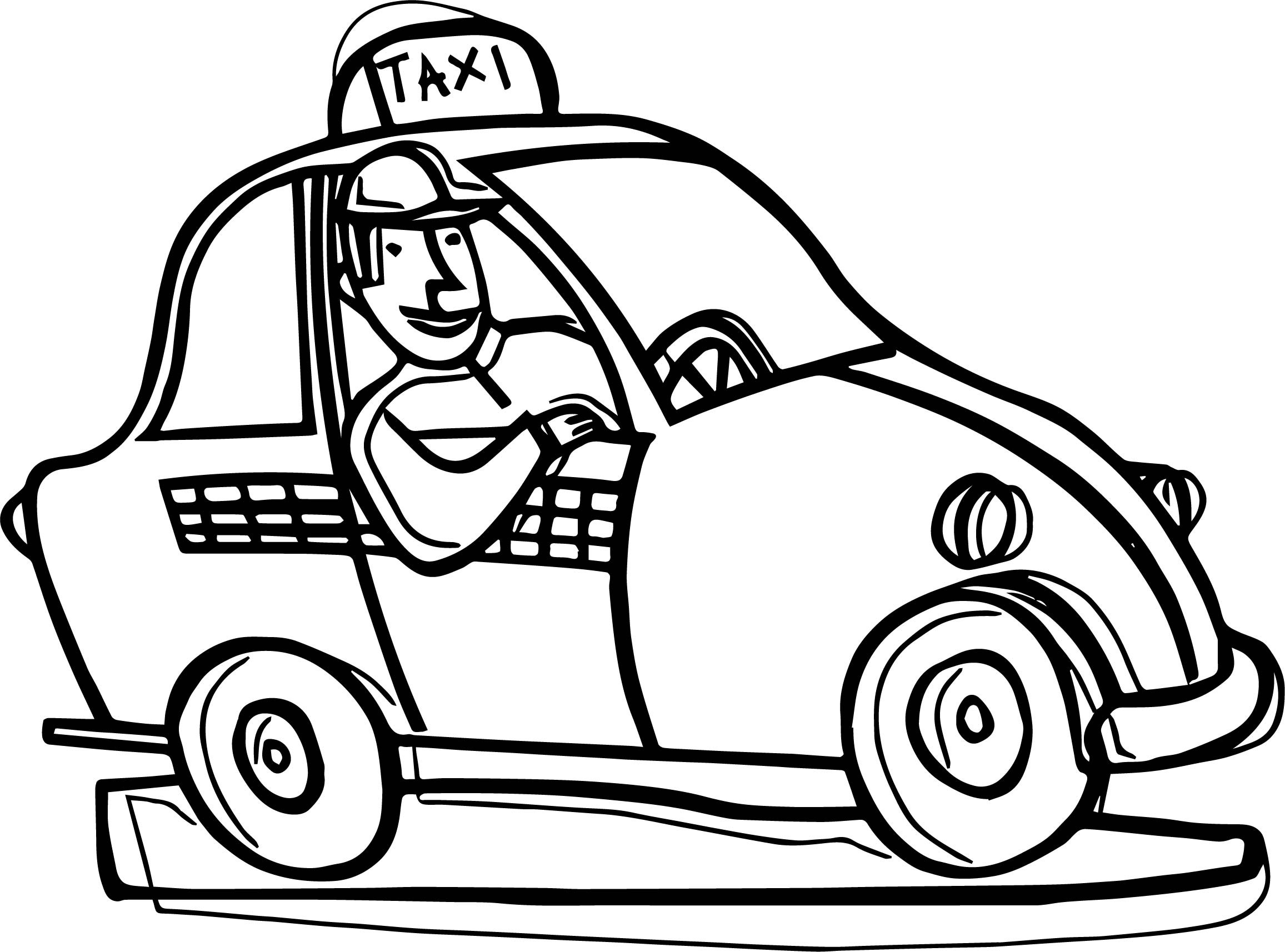 Taxi Coloring Page At Getcolorings