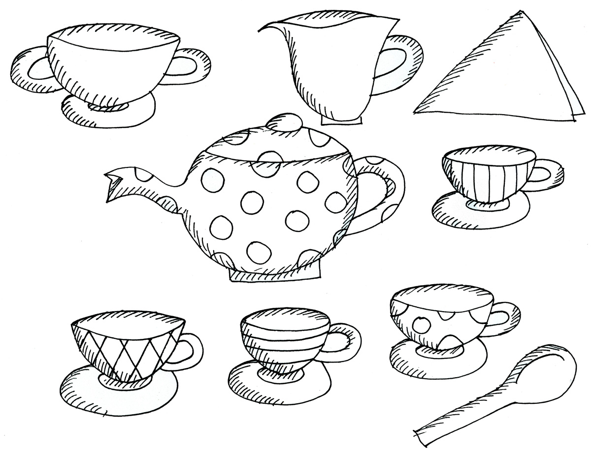 Tea Party Coloring Pages At Getcolorings