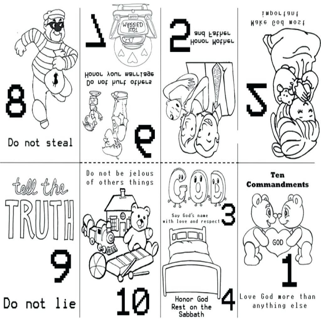 Ten Commandments Coloring Pages For Preschoolers At