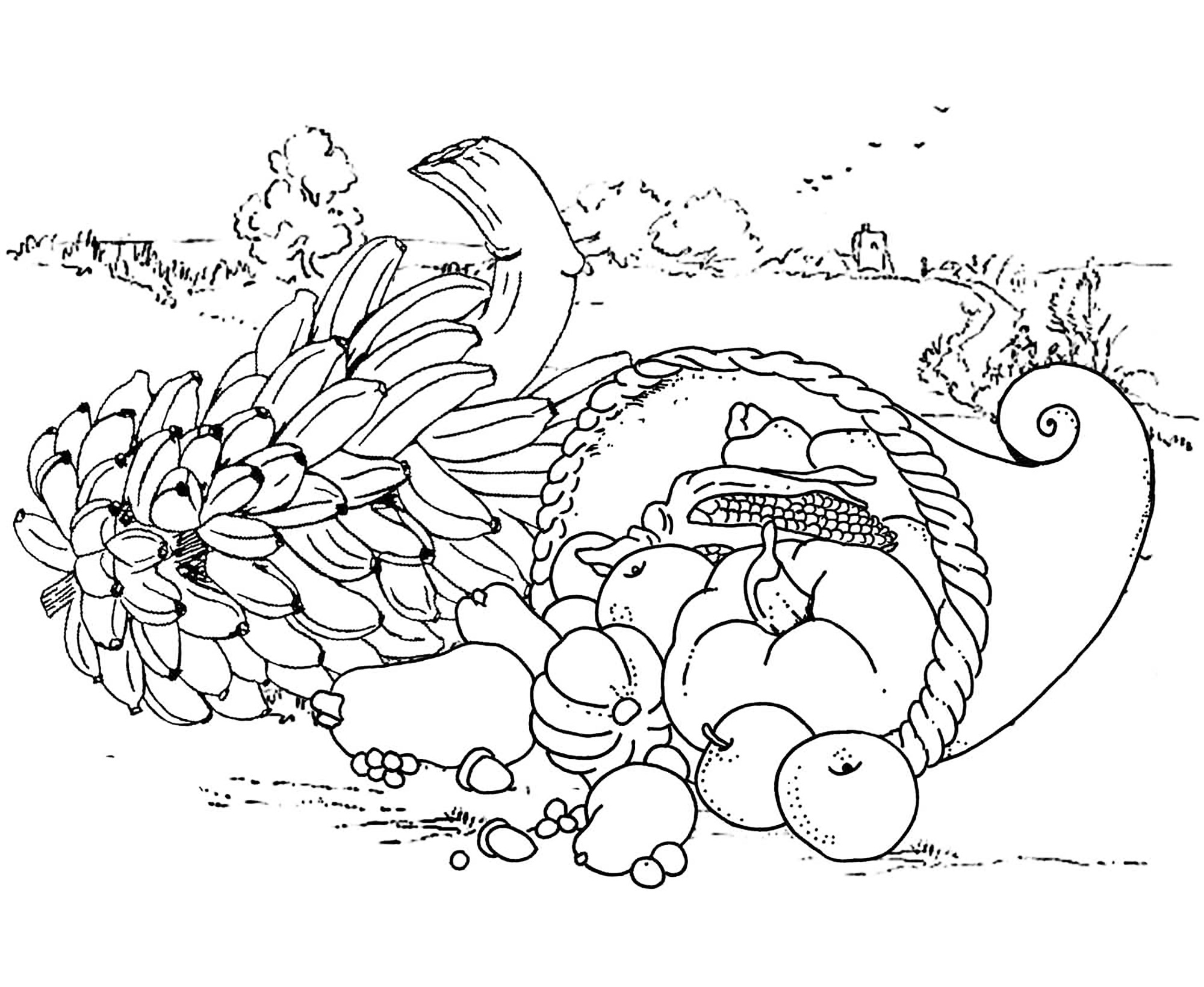 Thanksgiving Coloring Pages For Adults At Getcolorings