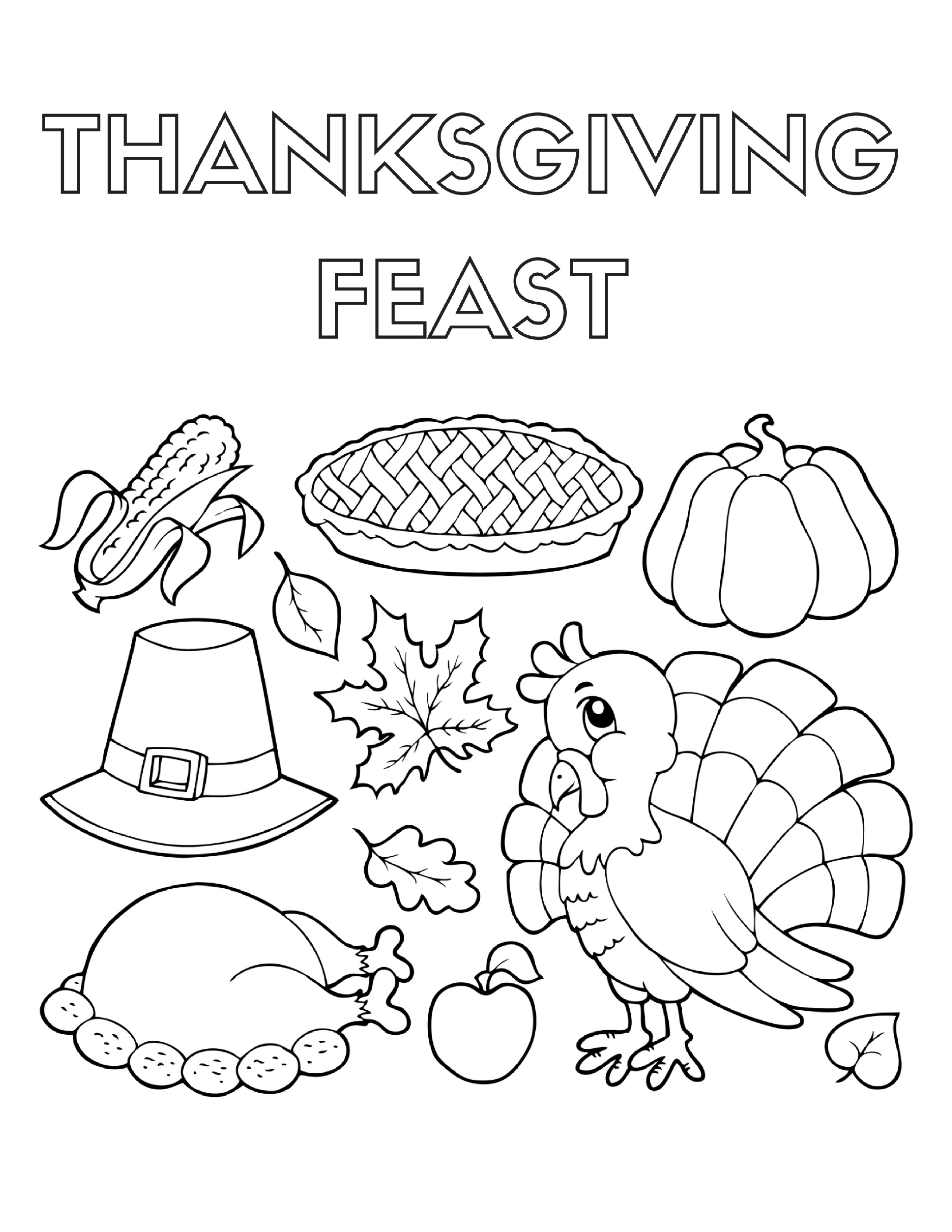 Thanksgiving Dinner Coloring Pages At Getcolorings