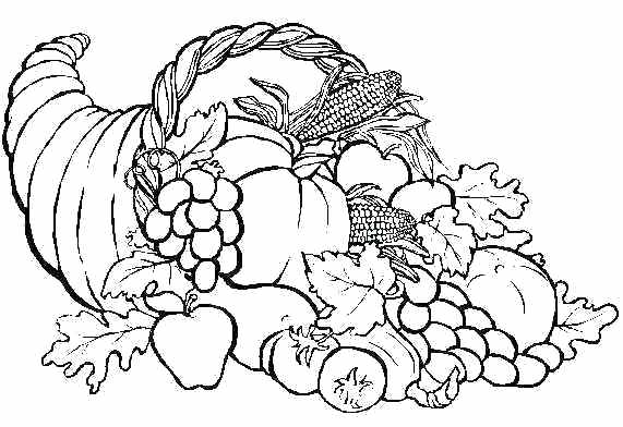 thanksgiving food coloring pages at getcolorings