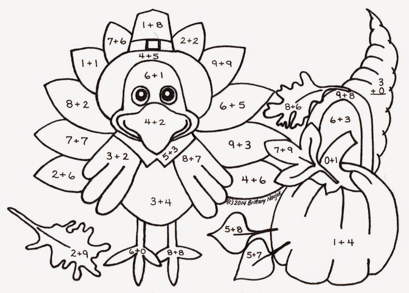 Thanksgiving Table Coloring Page At Getcolorings