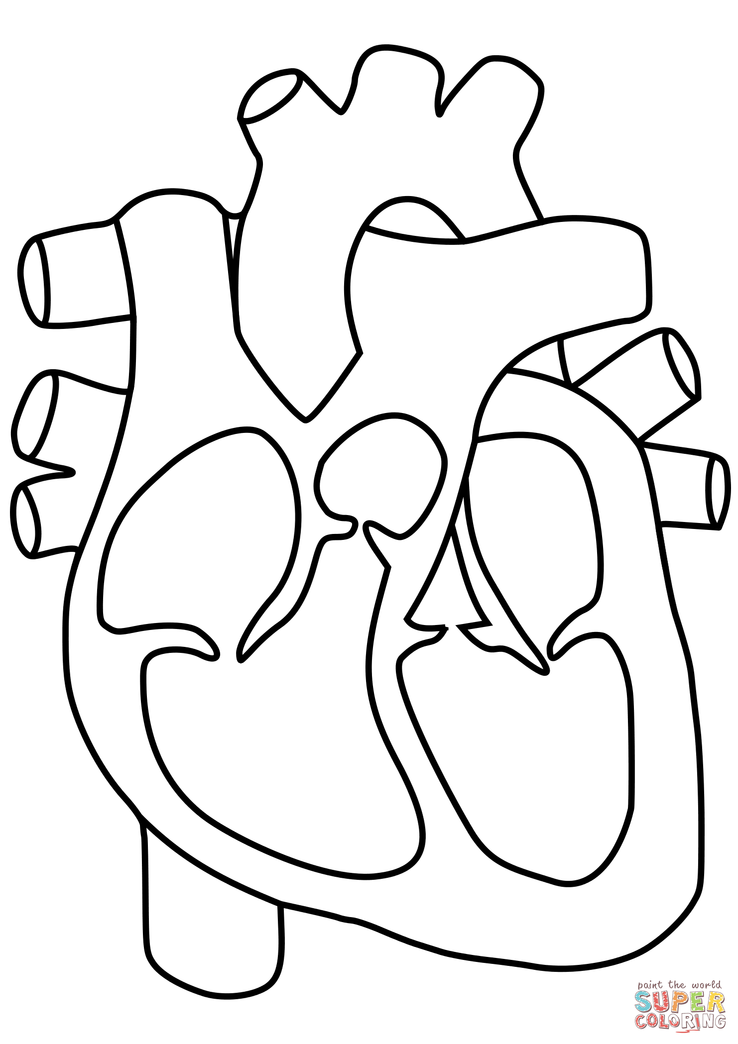 The Heart Coloring Pages At Getcolorings