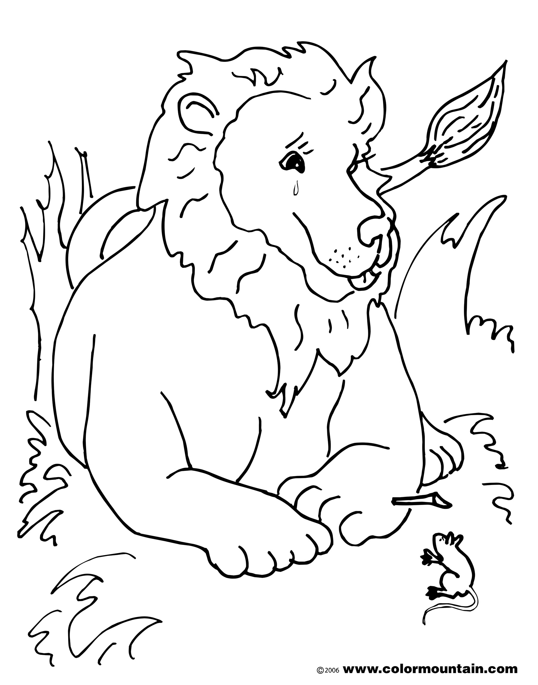 The Lion And The Mouse Coloring Page At Getcolorings