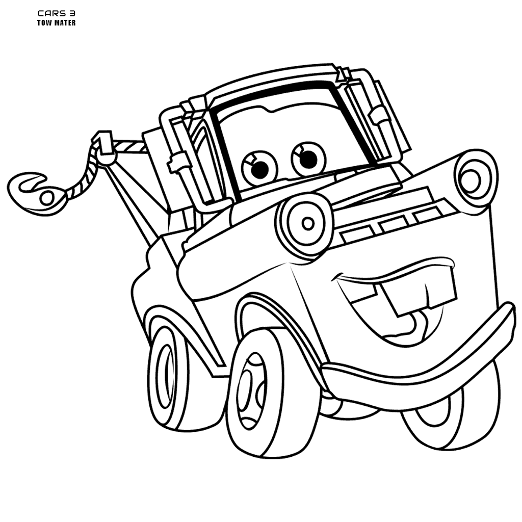 Tow Mater Coloring Page At Getcolorings