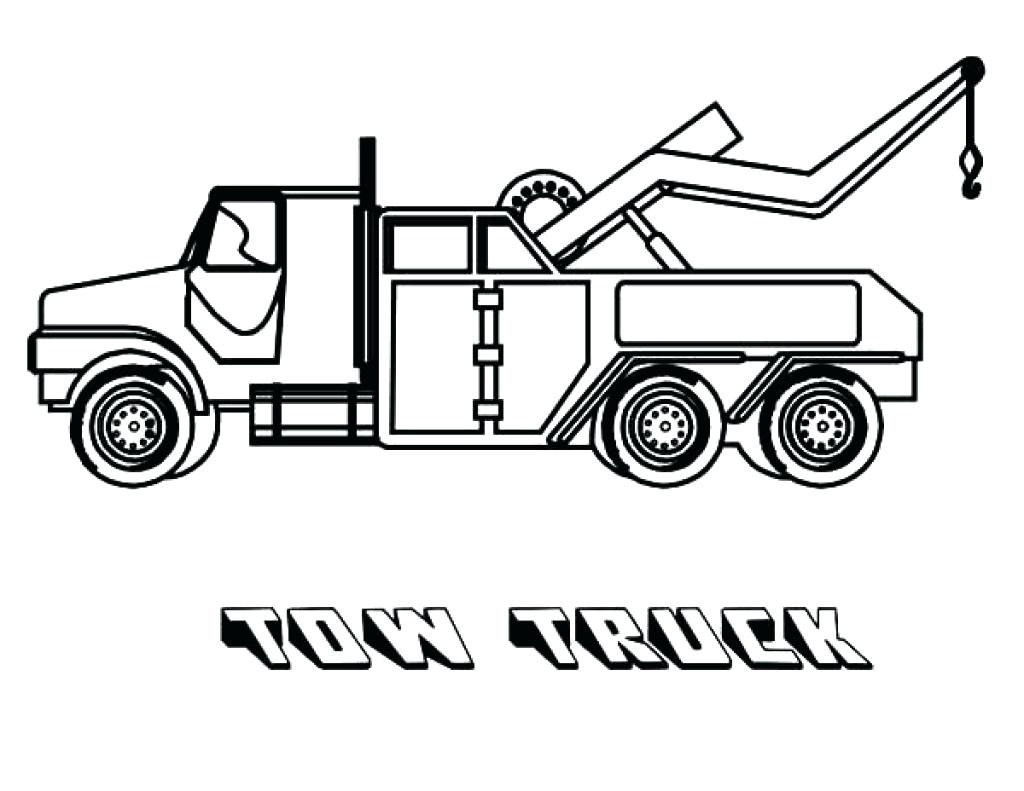 Tow Truck Coloring Pages At Getcolorings