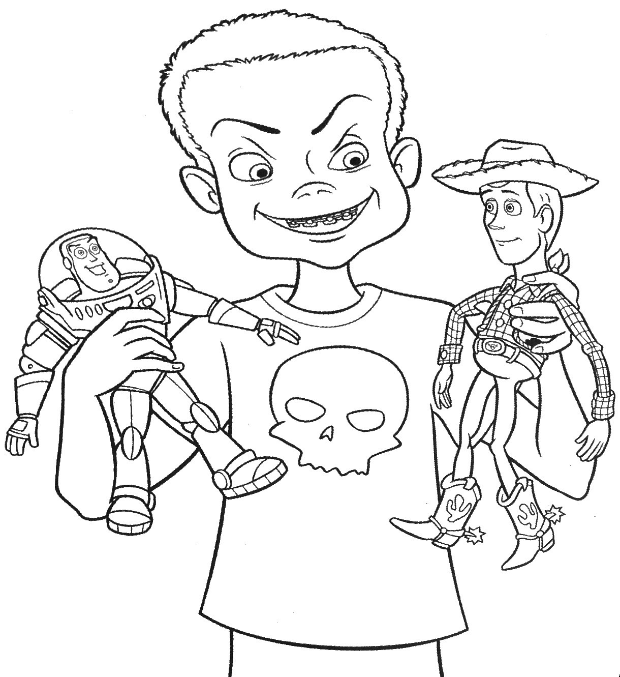 Toy Story Coloring Pages Woody At Getcolorings