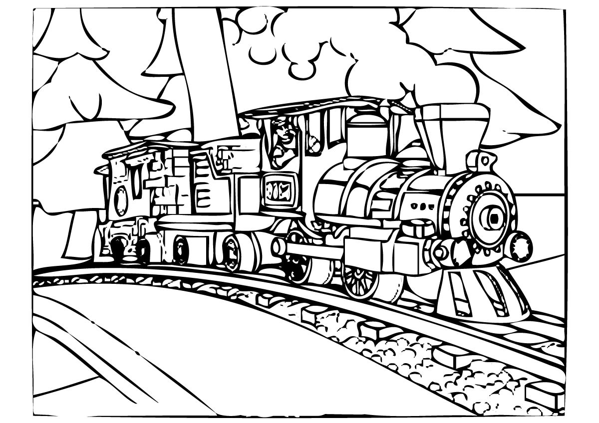 Train Caboose Coloring Pages At Getcolorings