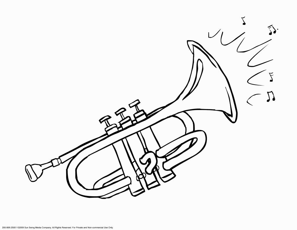 Trumpet Coloring Page At Getcolorings