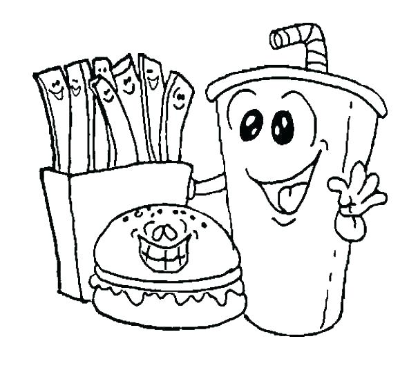 unhealthy food coloring pages at getcolorings  free