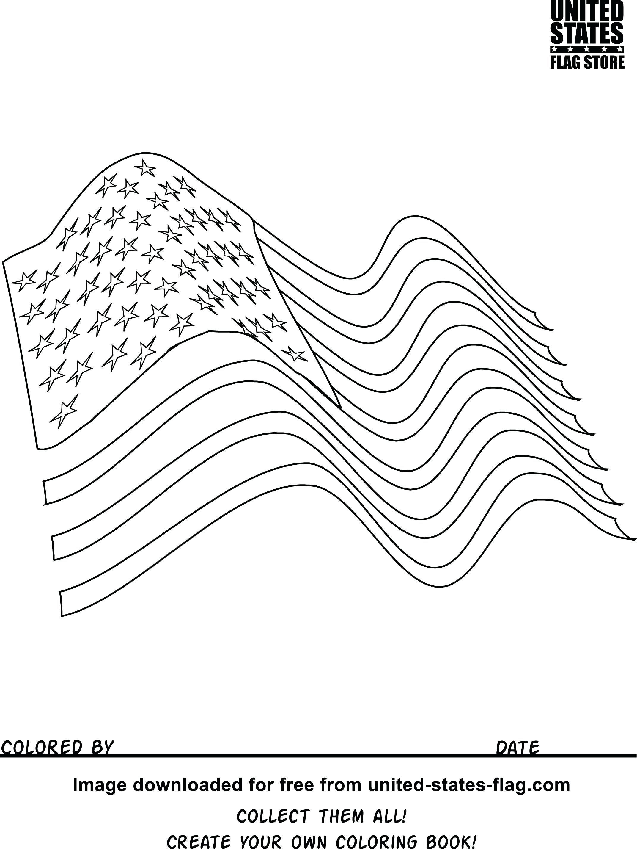 Usa Flag Coloring Page At Getcolorings