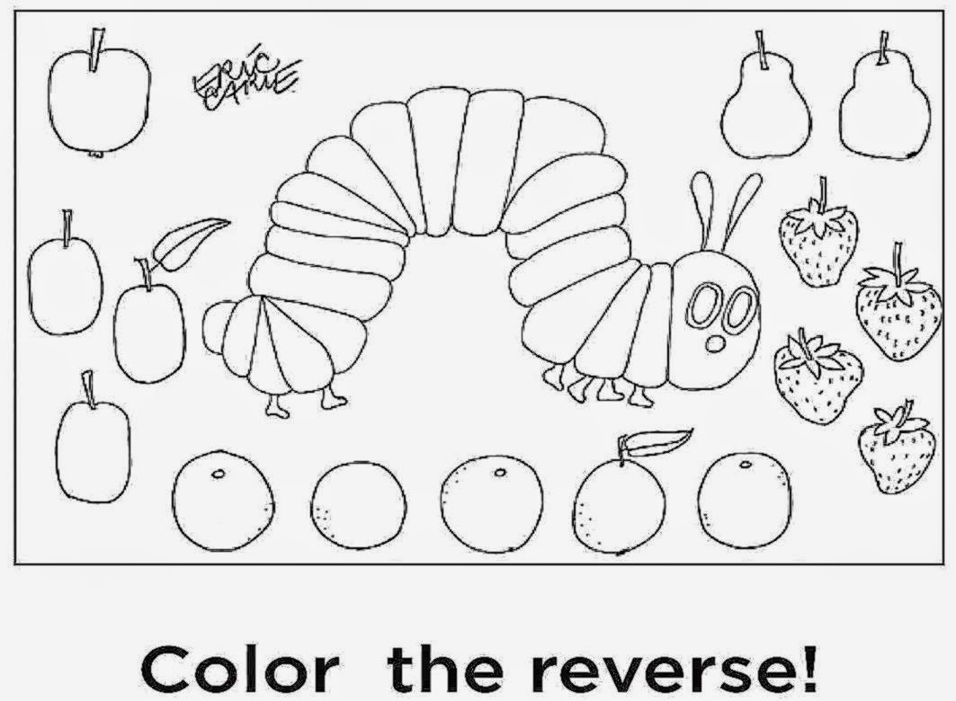 Very Hungry Caterpillar Coloring Pages Printables At