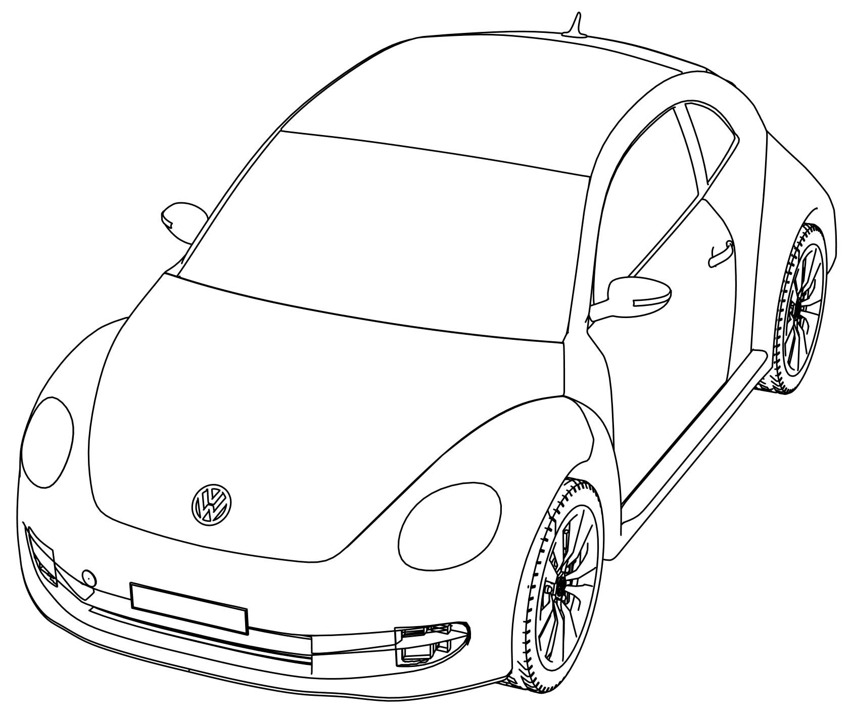 Vw Coloring Pages At Getcolorings
