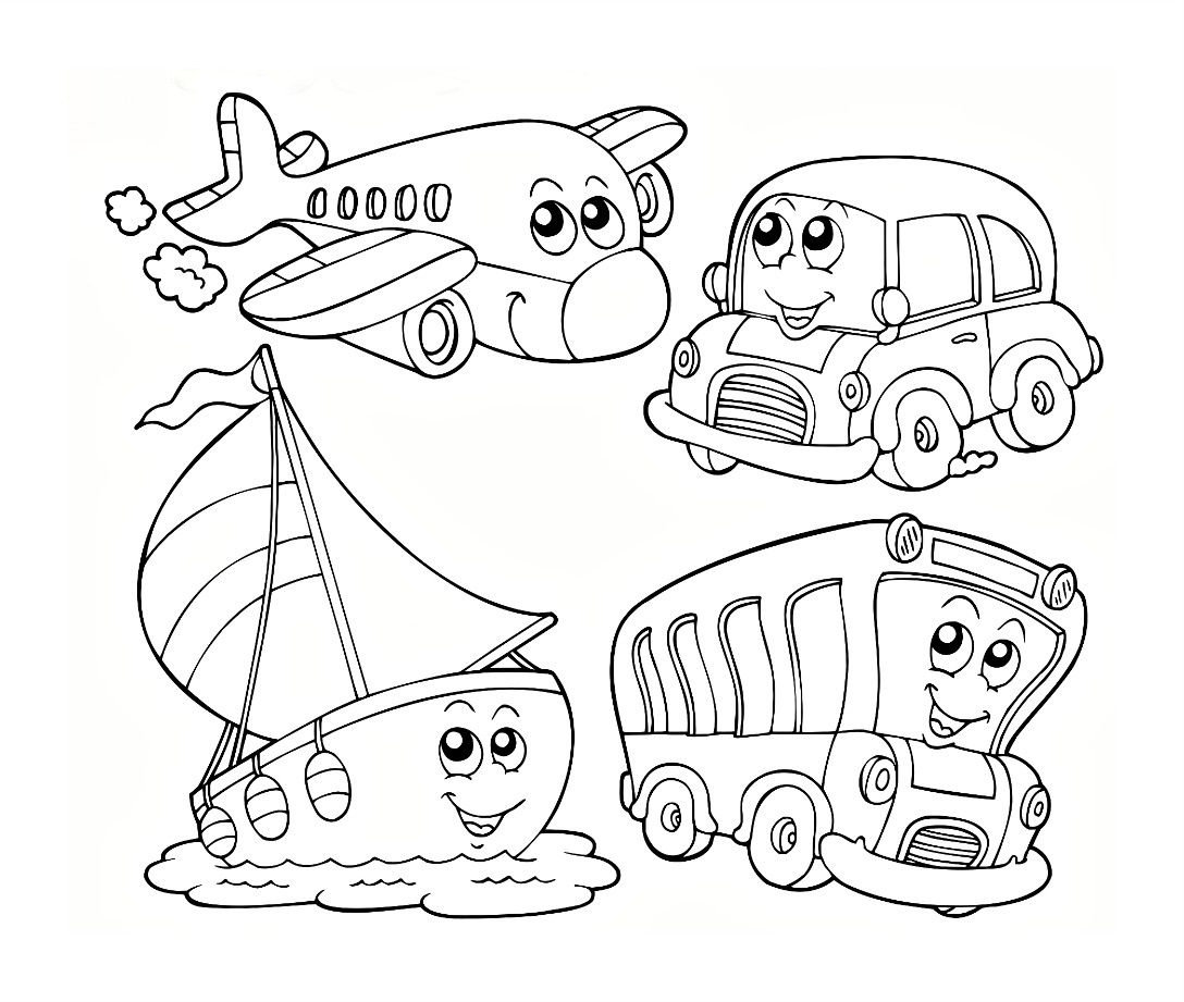 Water Transportation Coloring Pages at GetColorings.com ... | transportation coloring pages for preschool