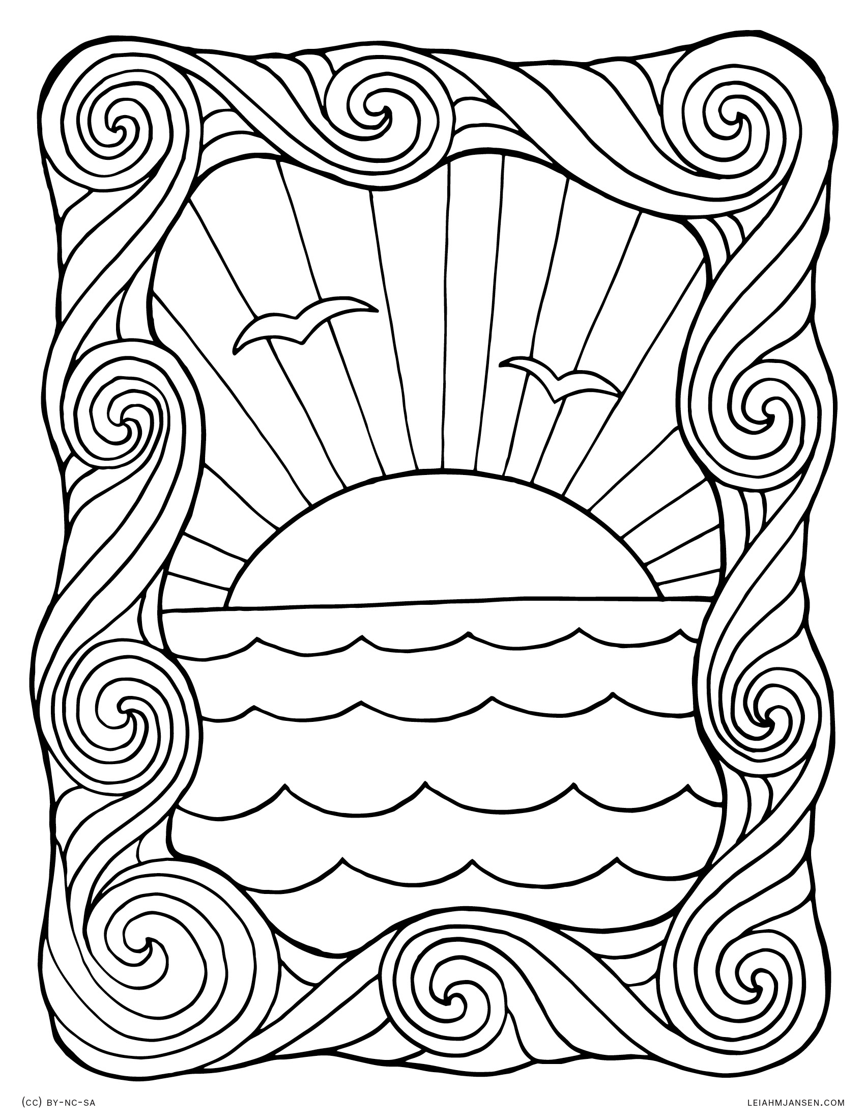 Water Waves Coloring Pages At Getcolorings