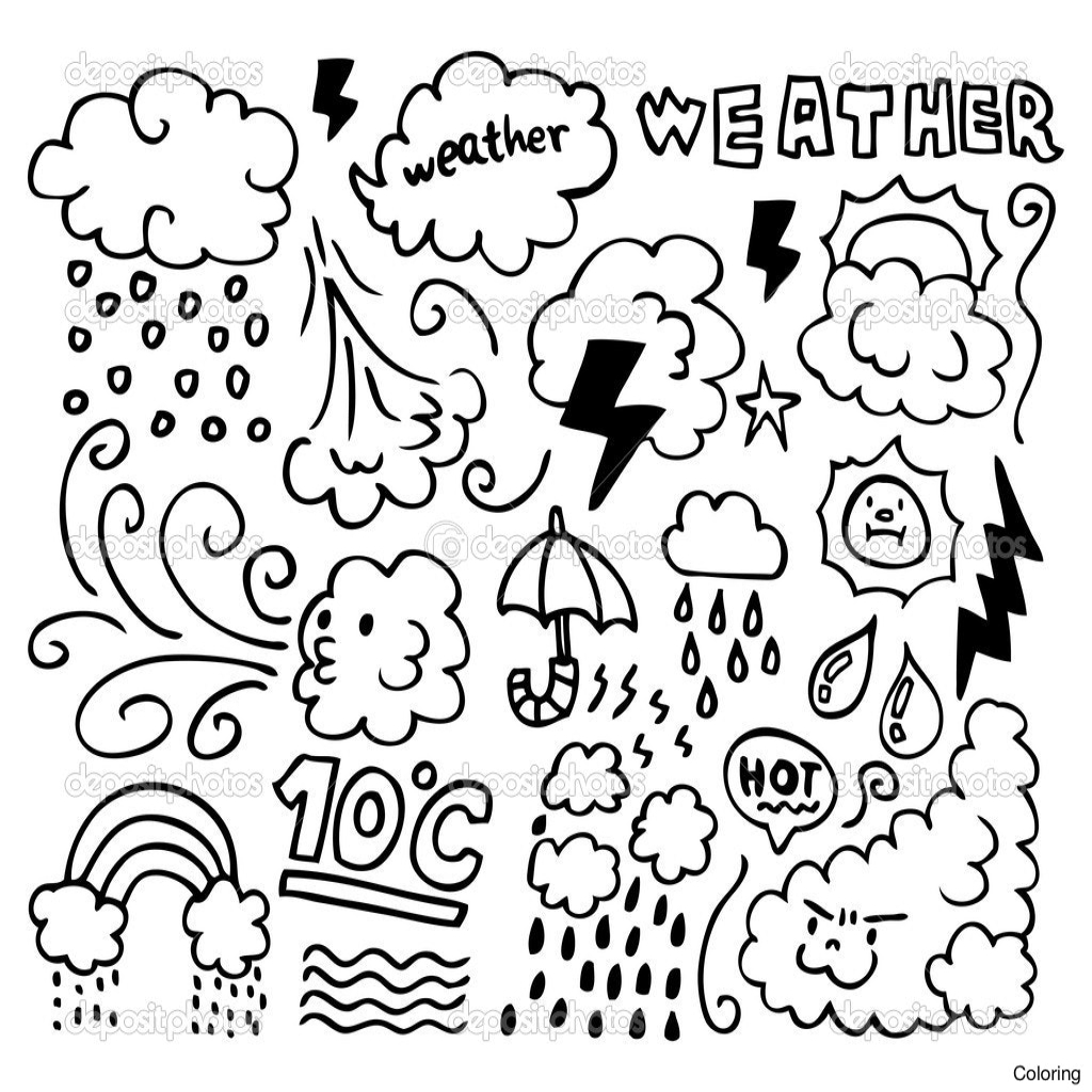 Weather Coloring Pages For Preschool At Getcolorings