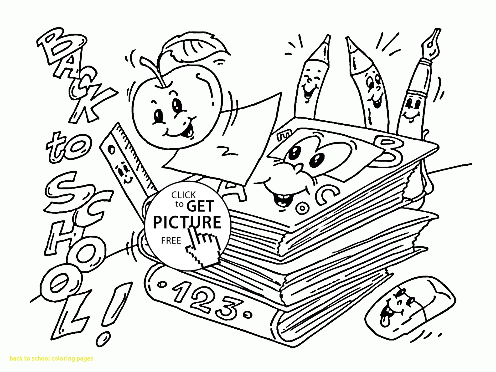 Welcome Back To School Coloring Pages At Getcolorings