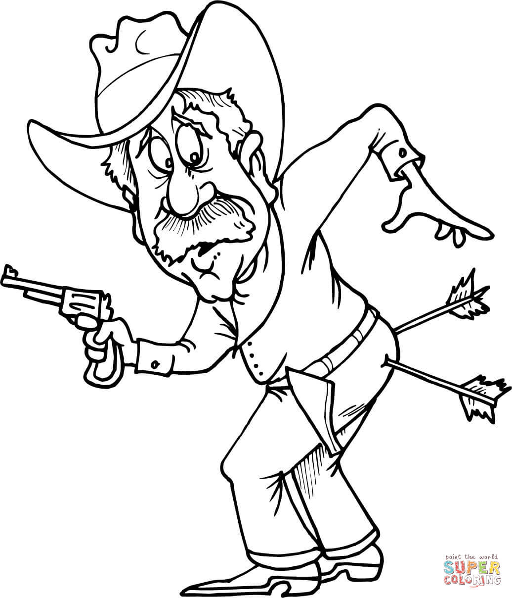 Western Cowboy Coloring Pages At Getcolorings
