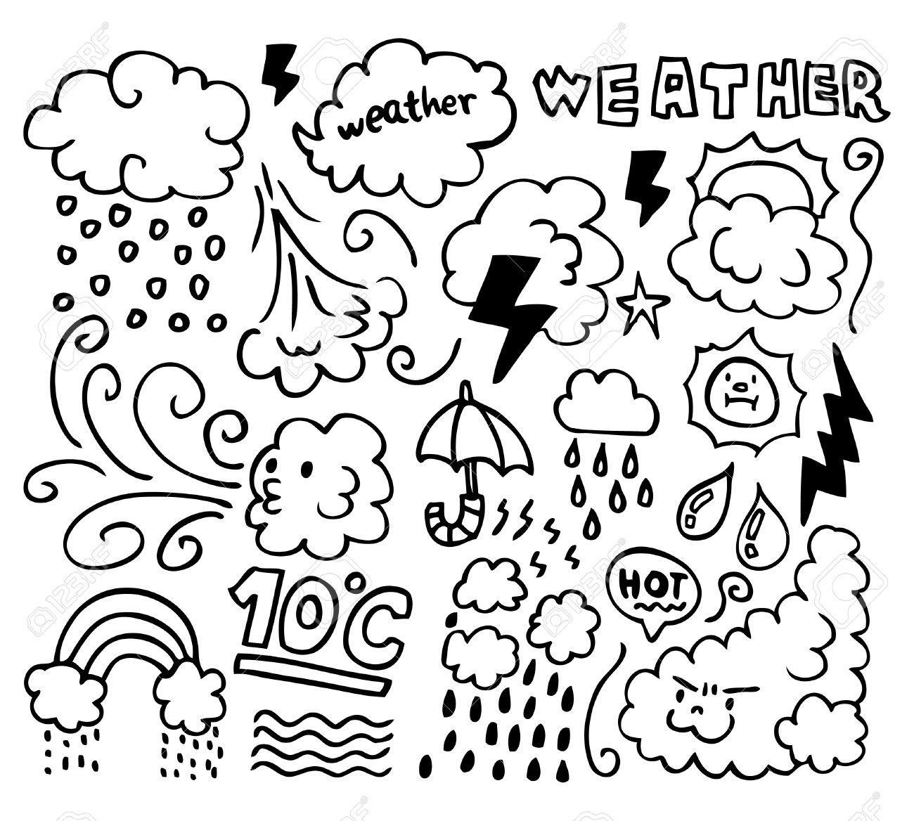 Windy Weather Coloring Pages At Getcolorings