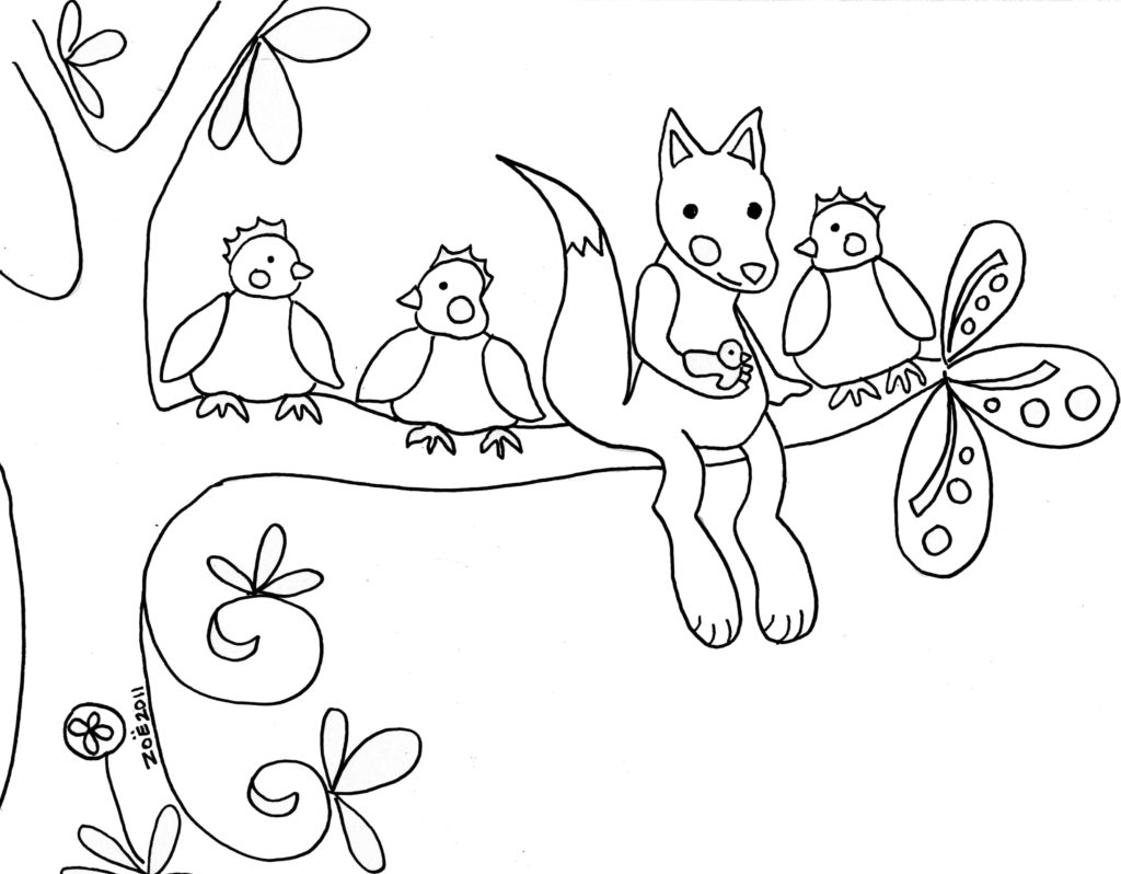 Woodland Creatures Coloring Pages At Getcolorings