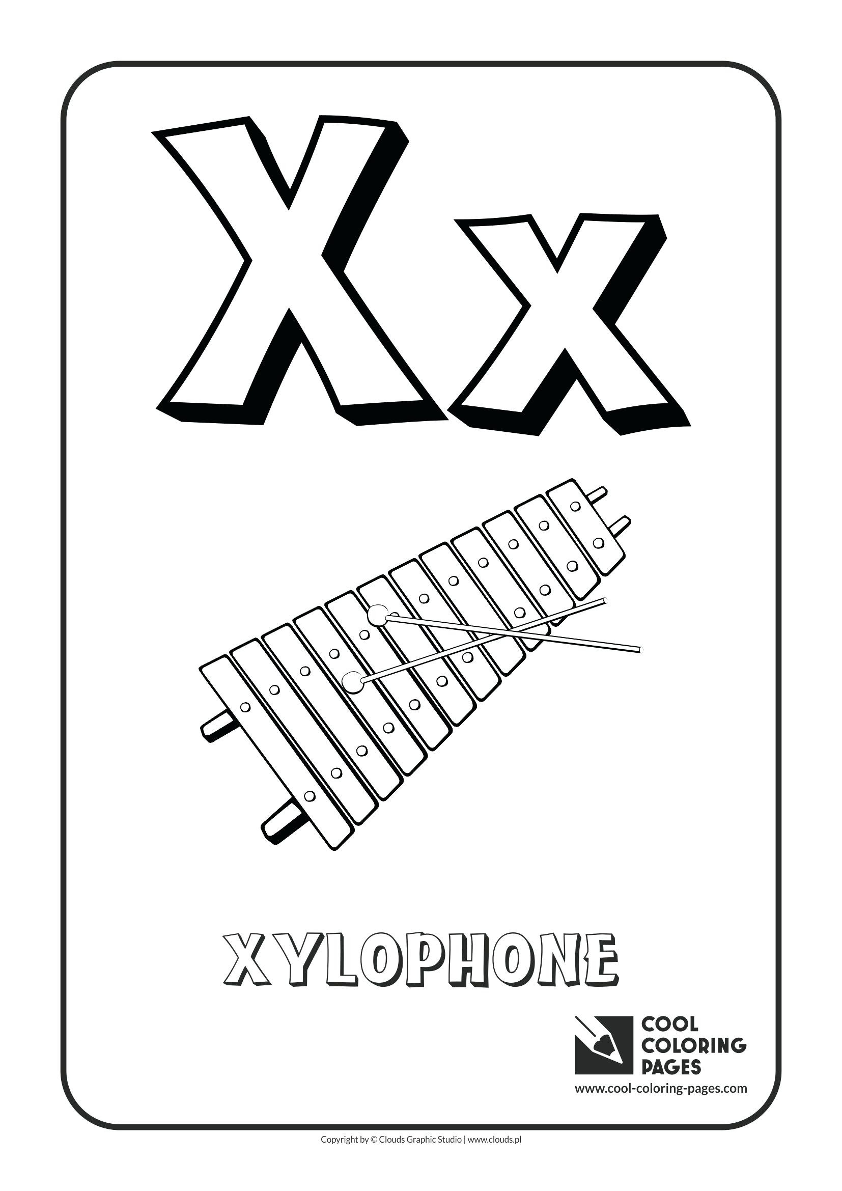 Xylophone Coloring Page At Getcolorings