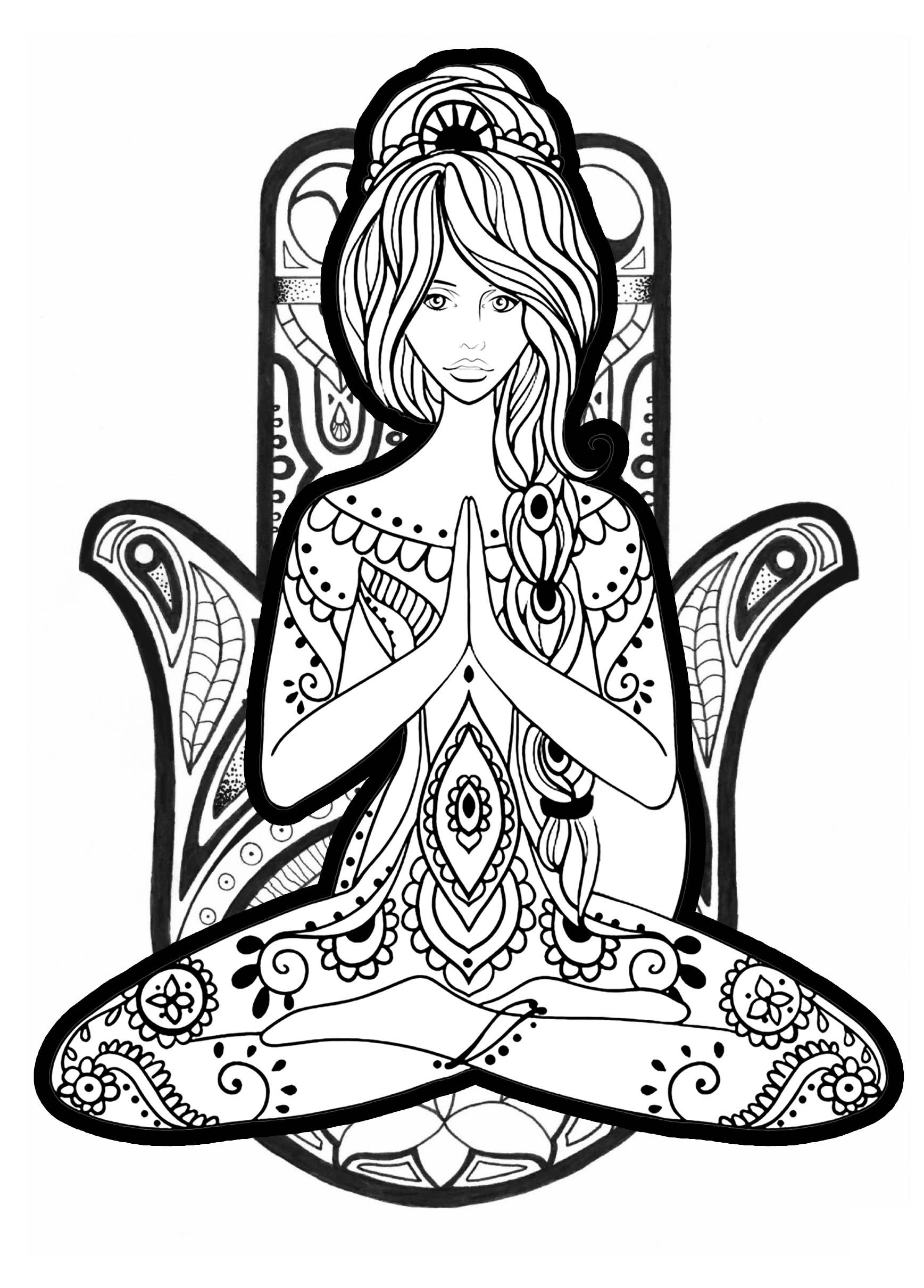 Yoga Poses Free Printable Yoga Coloring Pages Novocom Top