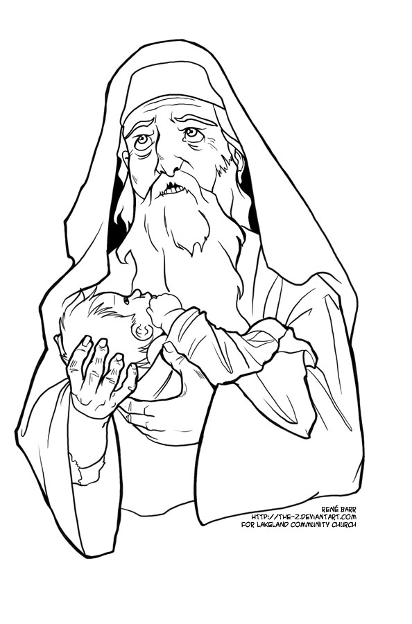 Zechariah And Elizabeth Coloring Page At