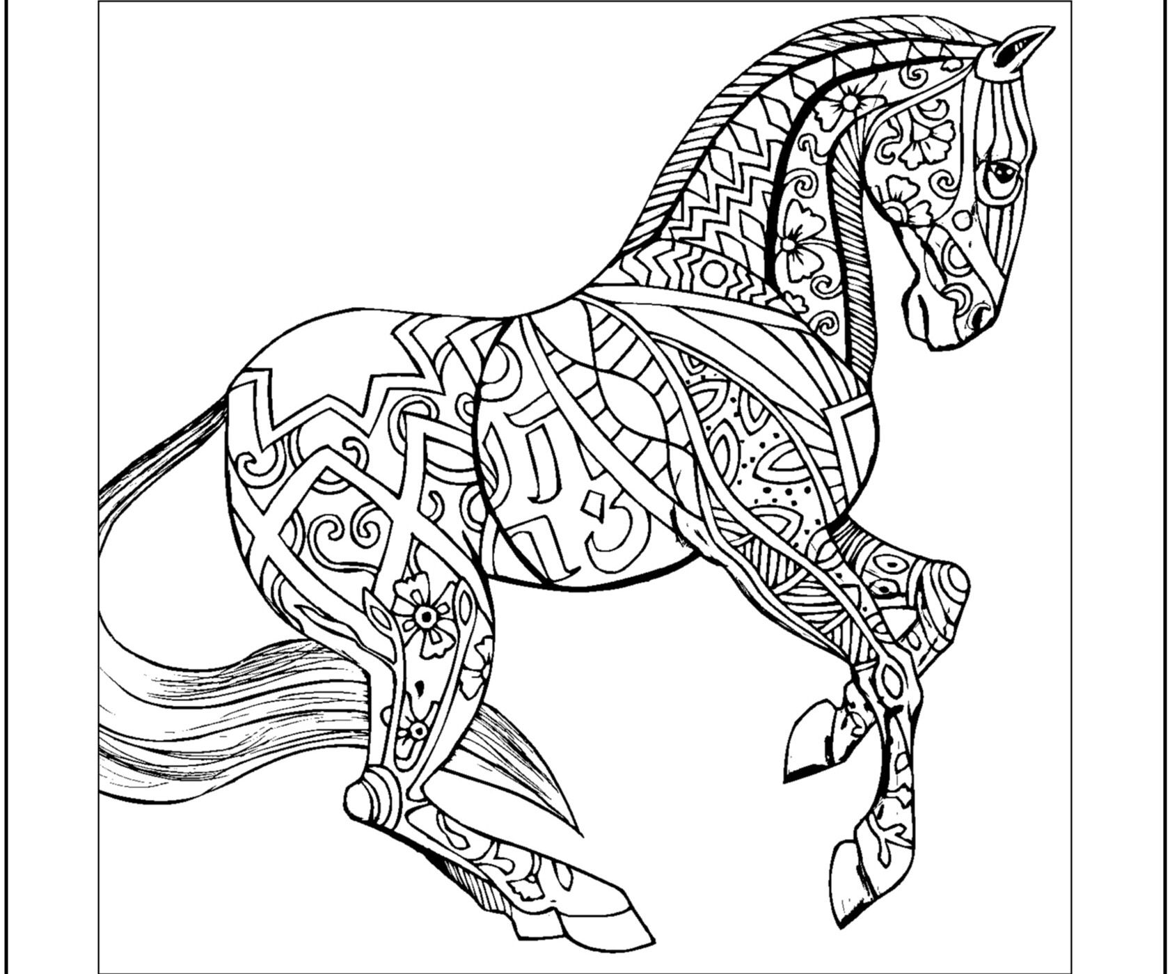 Zentangle Horse Coloring Pages At Getcolorings