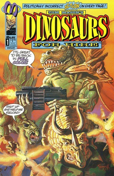 Dinosaurs For Hire Vol. 2 #1 – 12 (1993-1994)