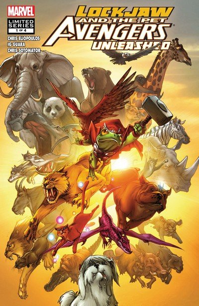 Lockjaw and the Pet Avengers Unleashed #1 – 4 (2010)