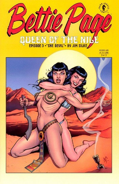 Bettie Page – Queen of the Nile #1 – 3 (Adult) (1999-2000)