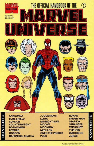 The Official Handbook of the Marvel Universe – Master Edition #1 – 36 (1990-1993)