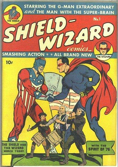 Shield Wizard Comics #1 – 13 (1940-1943)
