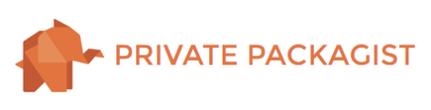 Private Packagist logo, a paper elephant and the text reads: Private Packagist