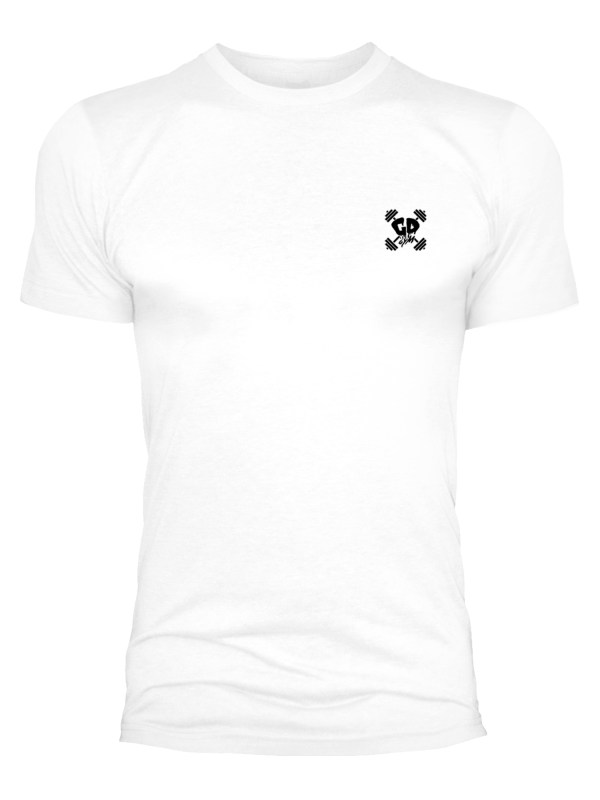 Get Down Logo Fitted Crew Neck T Shirt White