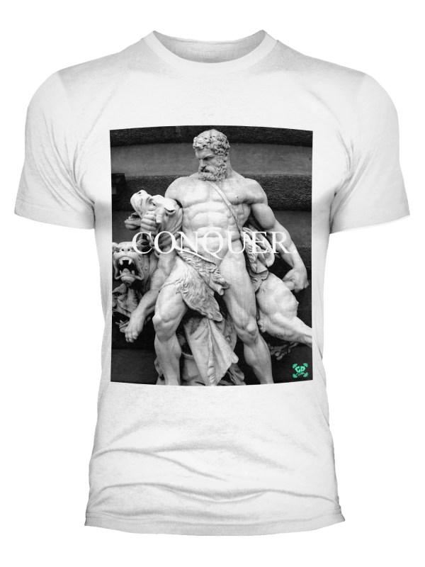 Conquer God Statue Training T Shirt