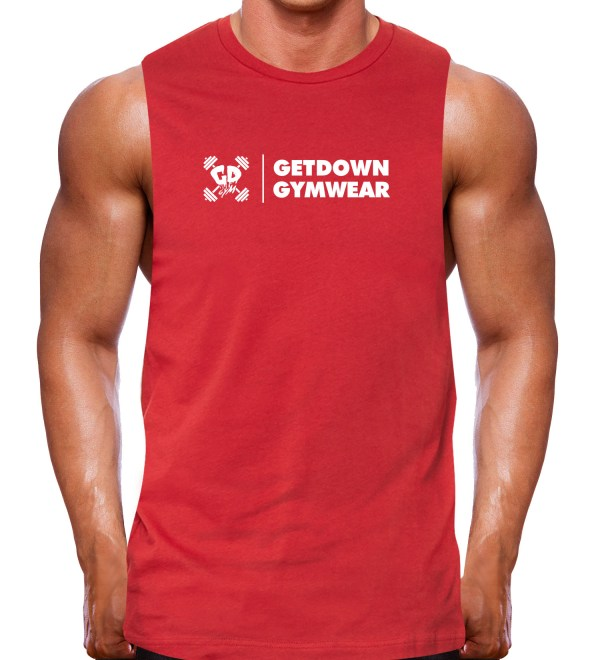 muscle tank rugged red