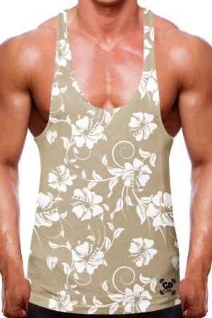 Hibiscus Floral Sand Stringer Vest