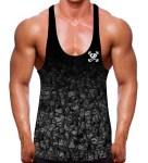 Black Out Enzyme Stringer Vest