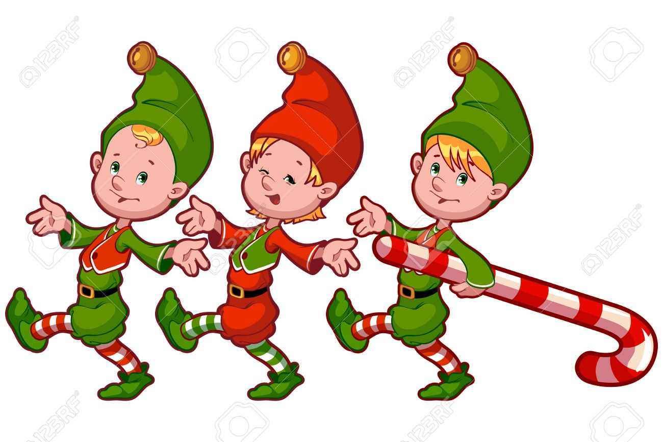 Christmas Elves Clipart At Getdrawings