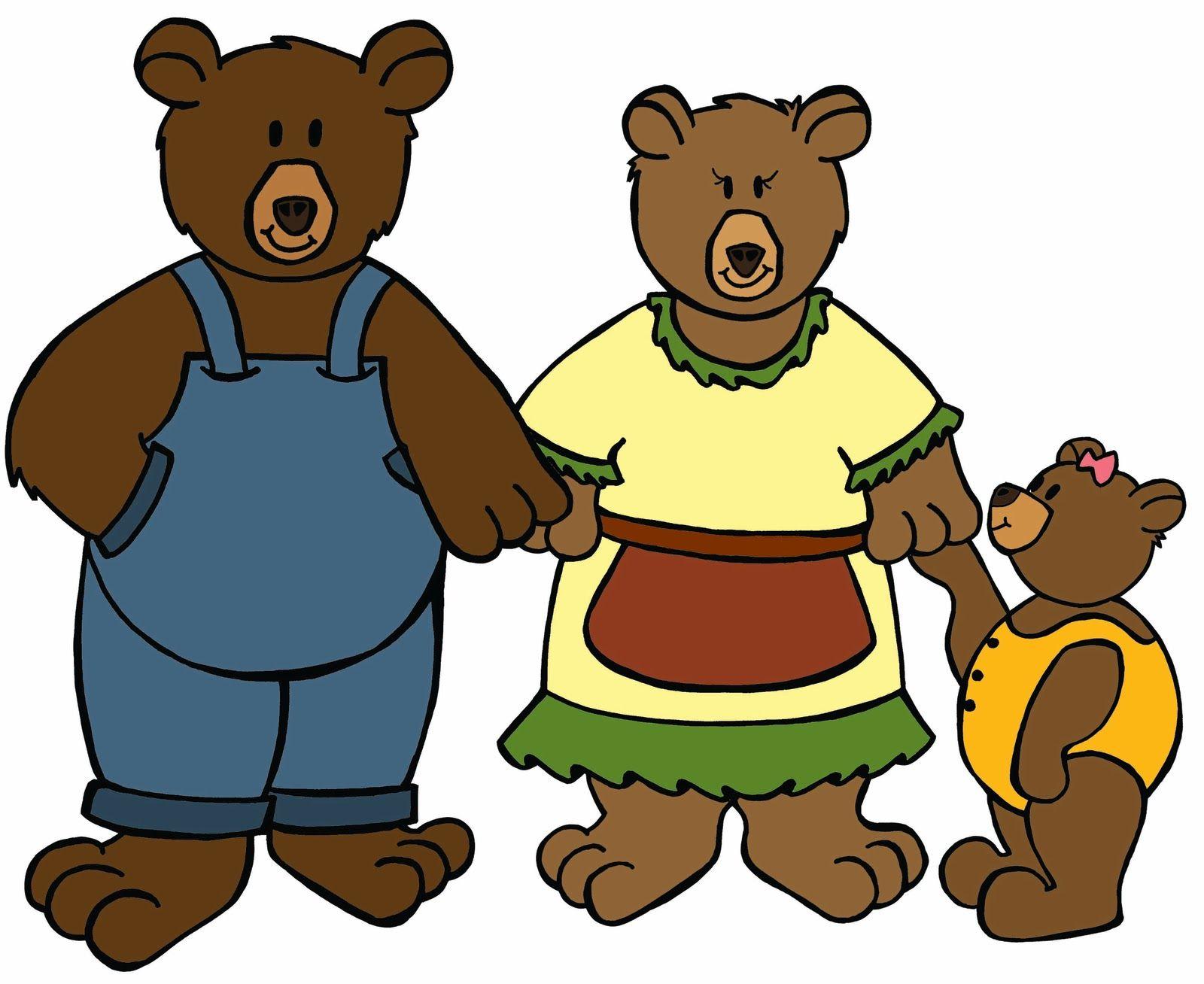 Goldilocks And The Three Bears Clipart At Getdrawings