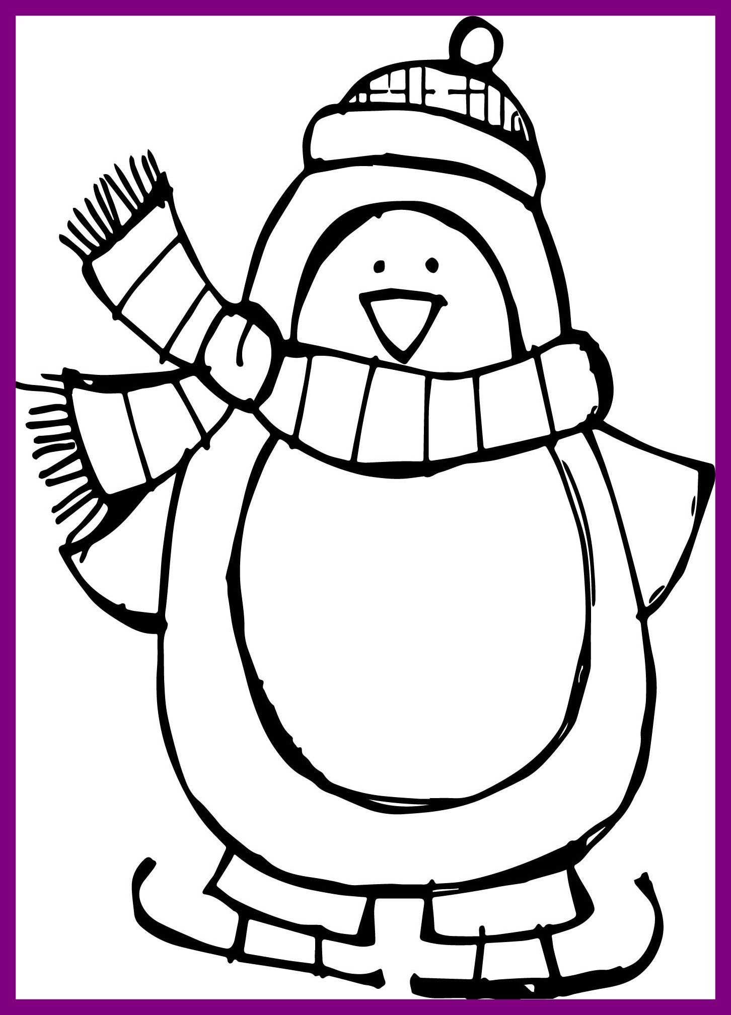 Winter Season Colouring Pages At Getdrawings