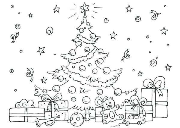 coloring pages of christmas trees # 57