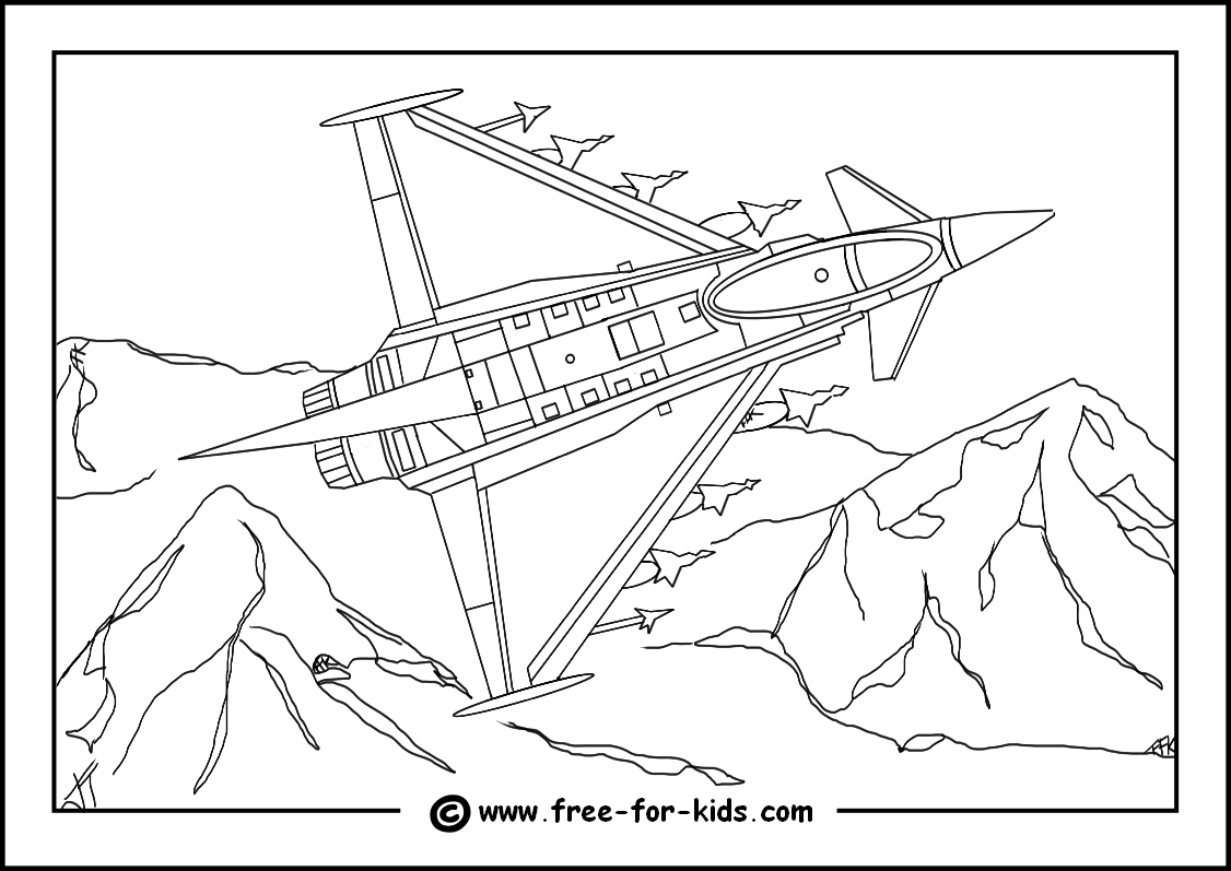 The Best Free Aeroplane Coloring Page Images Download